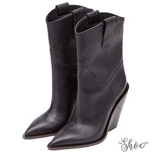 The Shoe Loft Shoes - Cutwalk Crocodile-embossed Calf Boots - Black